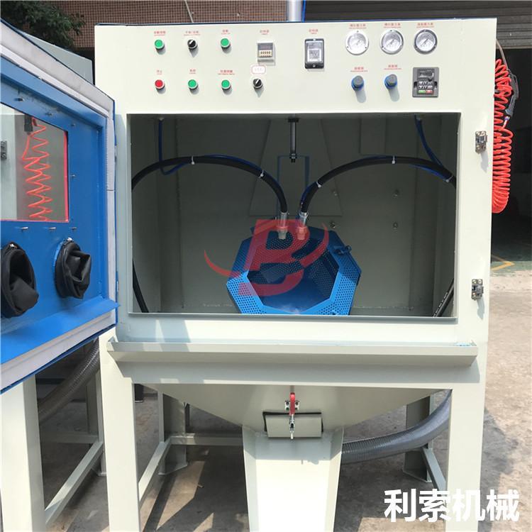 電木批量處理設備-利索滾籃式自動噴砂機 5