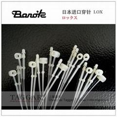 日本Banok进口尼龙手穿胶针子母扣轮扣