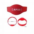 Colorful Promotional Customized Silicone Wristband 125kHz ID Wristband