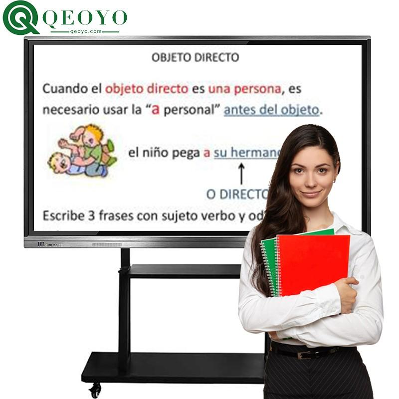 "qeoyo 55''65""75""86""100"" multi touch screen LED monitor interactive flat panel 1"