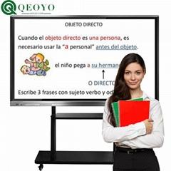 "qeoyo 55''65""75""86""100"" multi touch screen LED monitor interactive flat panel"