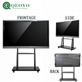 "qeoyo 55''65""75""86""100"" multi touch screen LED monitor interactive flat panel 3"