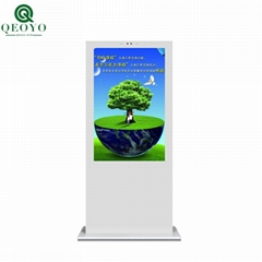 qeoyo 43 inch thermostability outdoor HD standing advertising lcd screen kiosk