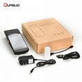 Mini Handheld rfid nfc reader barcode scanner android PDA with thermal printer 4