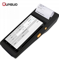 Mini Handheld rfid nfc reader barcode scanner android PDA with thermal printer 5