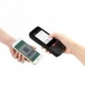 Portable handheld NFC reader barcode