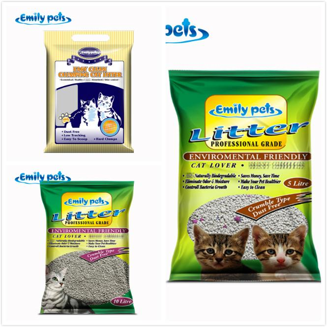 Dust-free Clumping 100% Natural Activated Carbon Bentonite Cat Litter 3