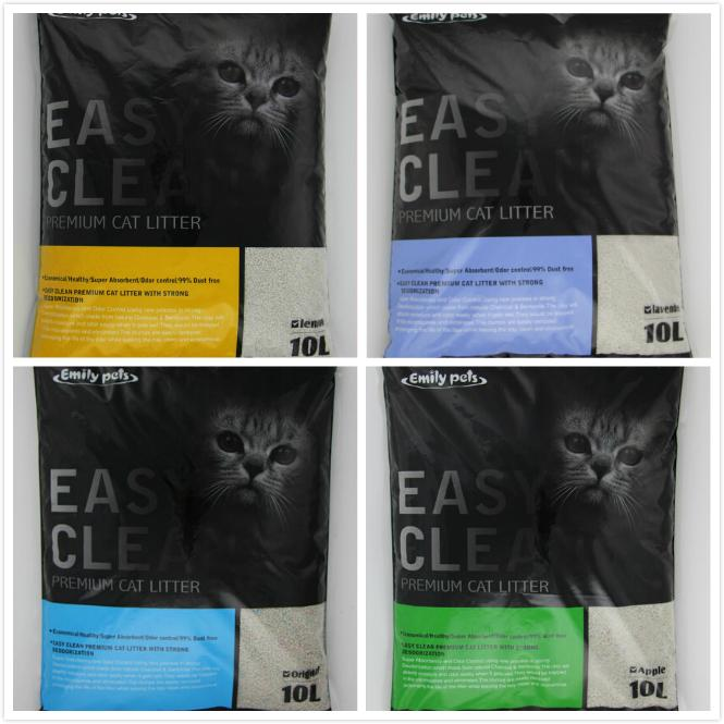 Dust-free Clumping 100% Natural Activated Carbon Bentonite Cat Litter 4