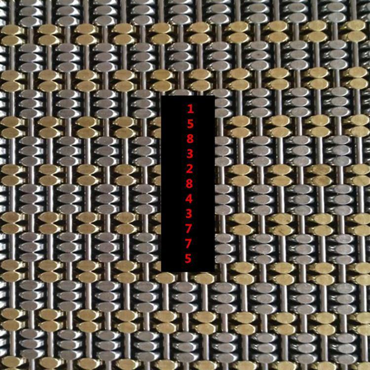 兩銅三鋼馬蹄金屬編織網 1