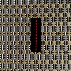 兩銅三鋼馬蹄金屬編織網
