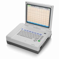 ECG 1230T 12inch 800x600 color LCD 12 Channel ECG machine