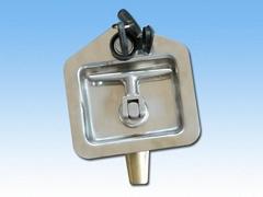 Stainless Steel Folding T  handle Trailer Truck Door T Handle Paddle Lock Price
