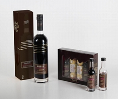 Wholesale Hot Sale Custom Square Luxury Black Paperboard Paper Wine Box