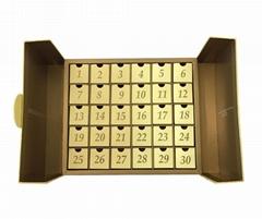 Handmade Custom Decoration Paper Christmas Gift Advent Calendar Box