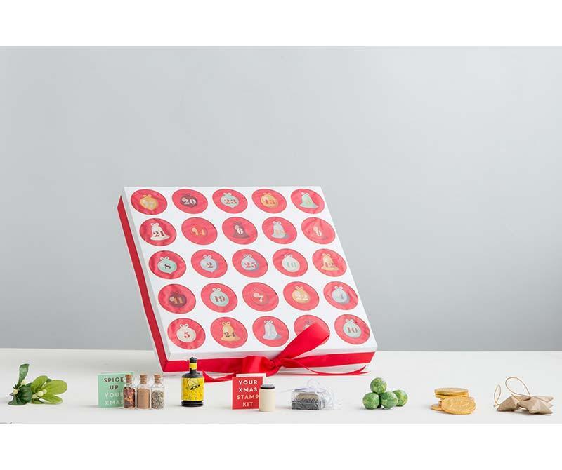 Luxury Custom Design Advent Calendar Box Christmas Drawer Box 1