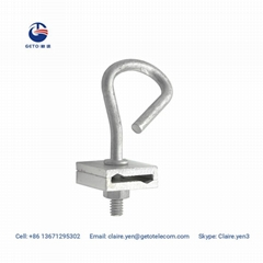 Fiber optic cable FTTH hook for pole