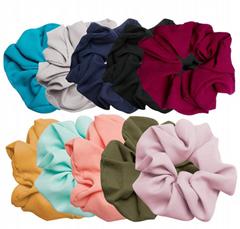 HISUM FASHION silk Scrunchies