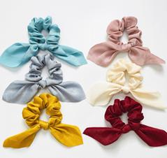 HISUM FASHION silk Scrunchies with knot