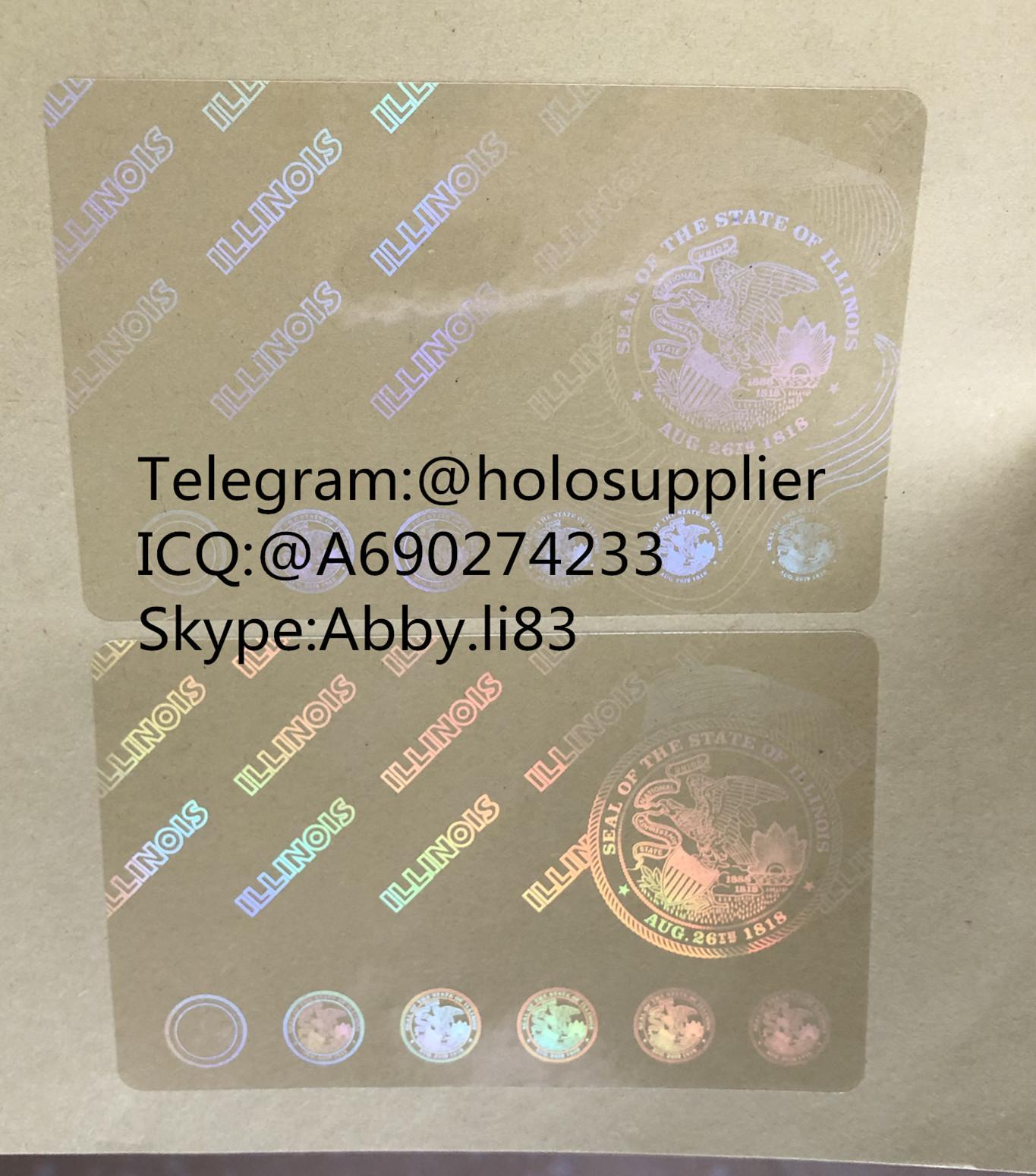 Illinois id overlay  ID state hologram 1