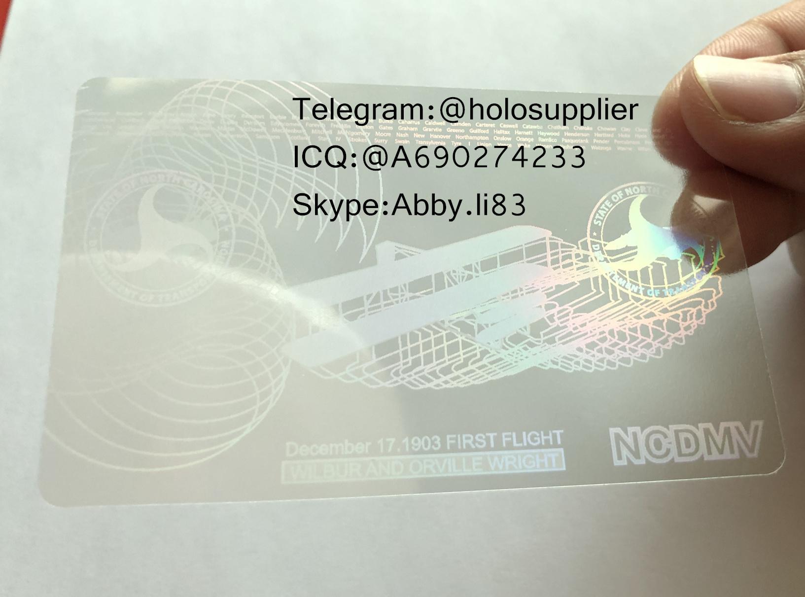 New North Carolina ID overlay new NC state hologram 1