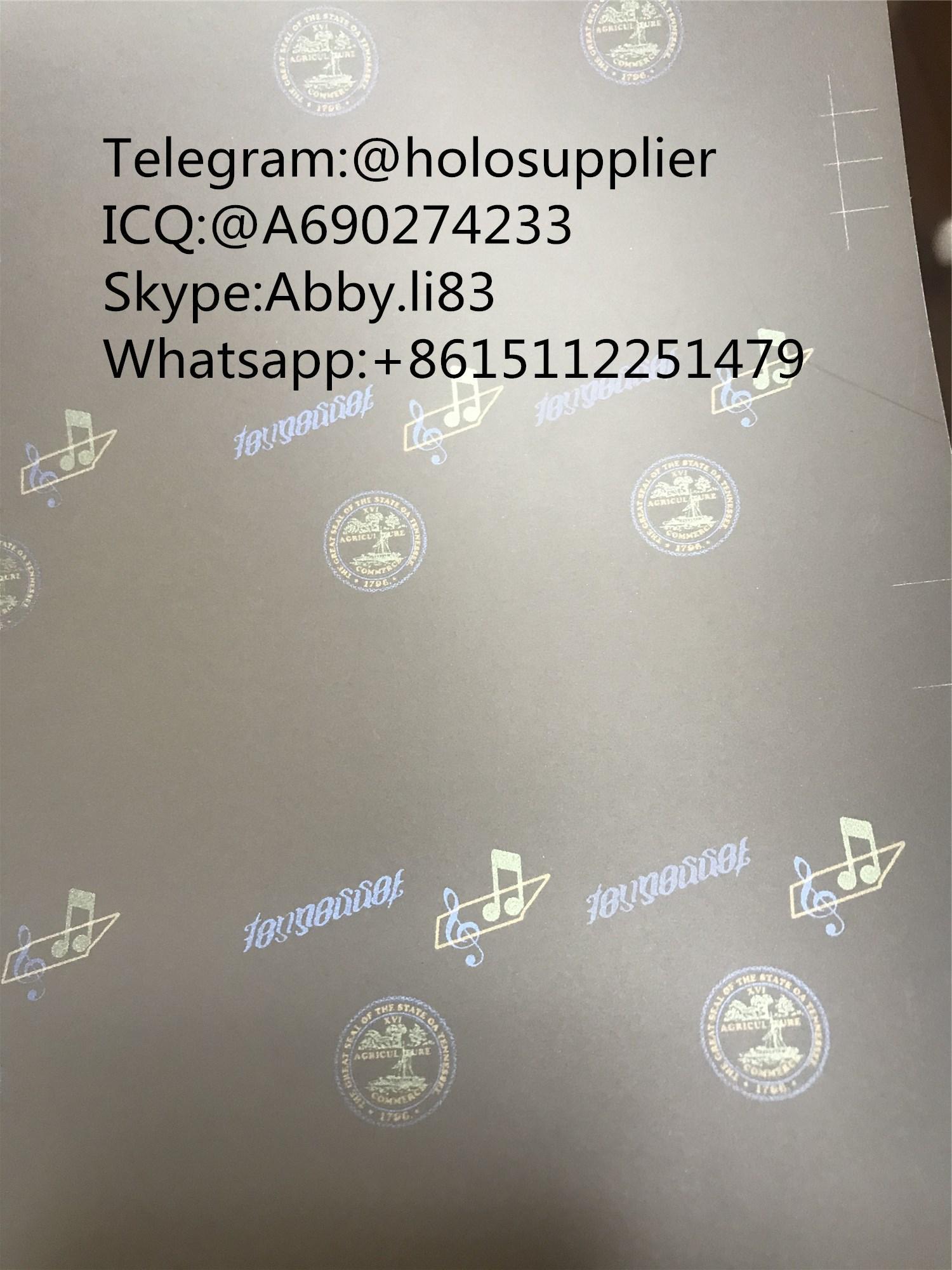 Tennessee TN ID laminate sheet hologram 3