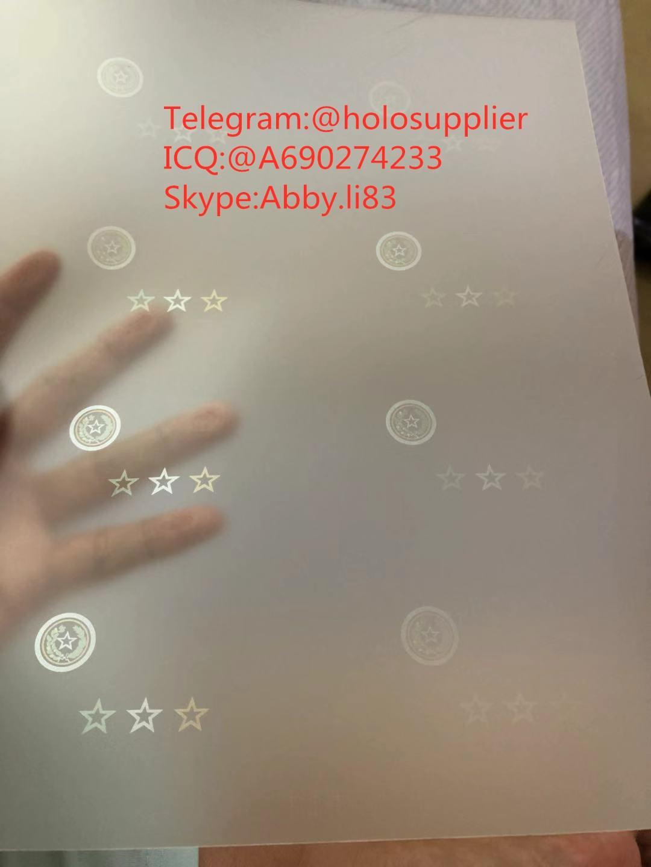 New Texas ID hologram laminate sheet TX ovi sheet   1