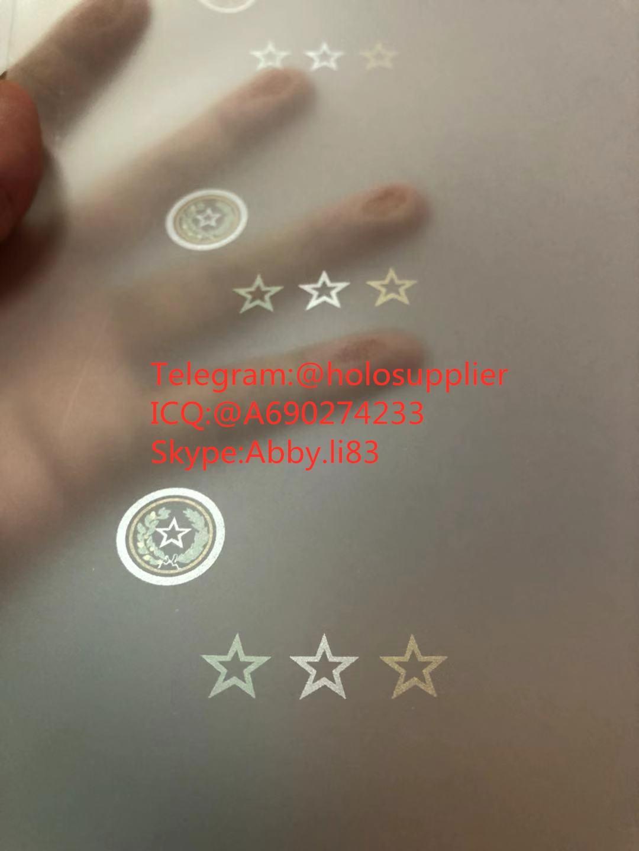 New Texas ID hologram laminate sheet TX ovi sheet   2