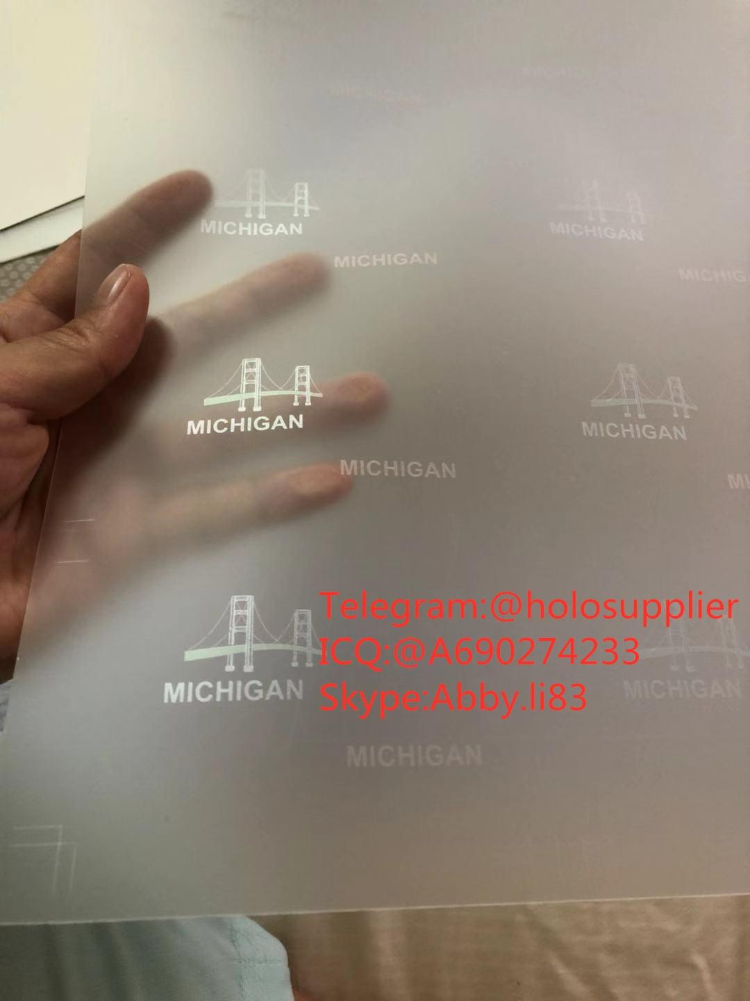 New Michigan ID hologram laminate sheet MI ovi sheet   2