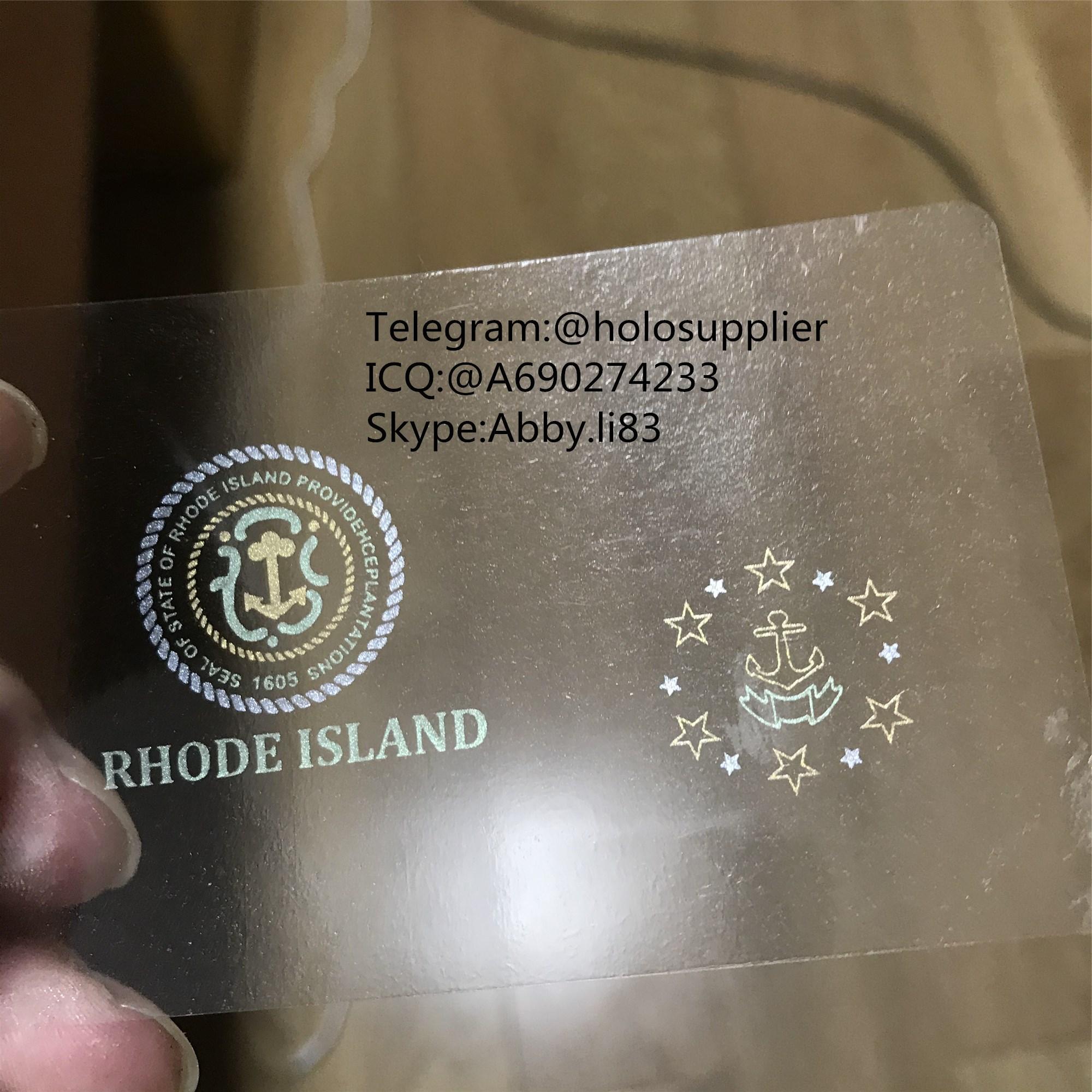 Rhode Island id overlay RI ID state hologram 1