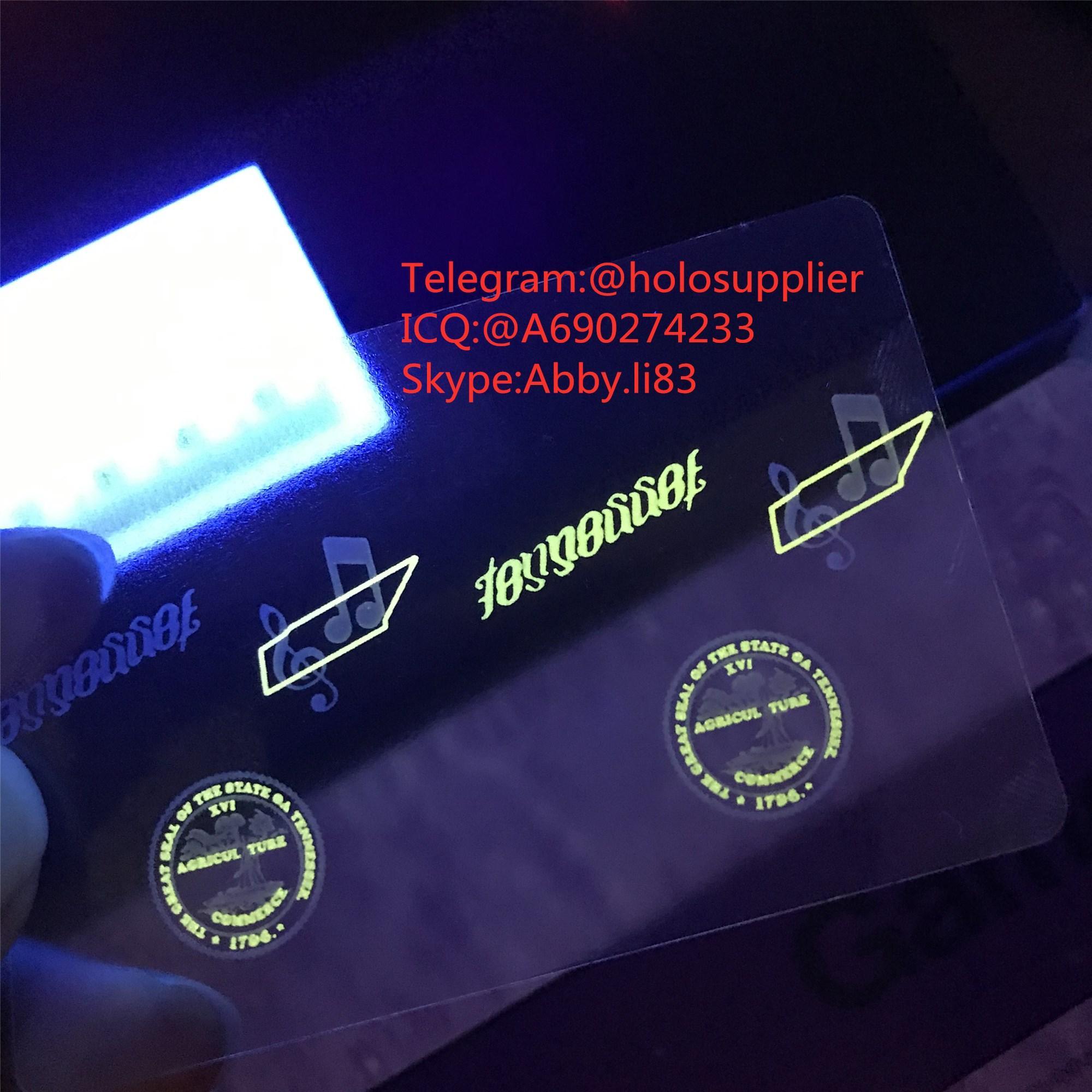 Tennessee ID hologram TN state overlay 1