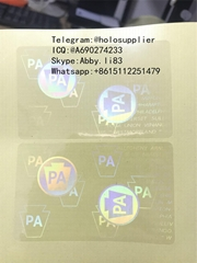 PA UV state ID hologram sticker US state ID overlays