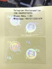 Pennsylvania PA UV state ID hologram sticker US state ID overlays