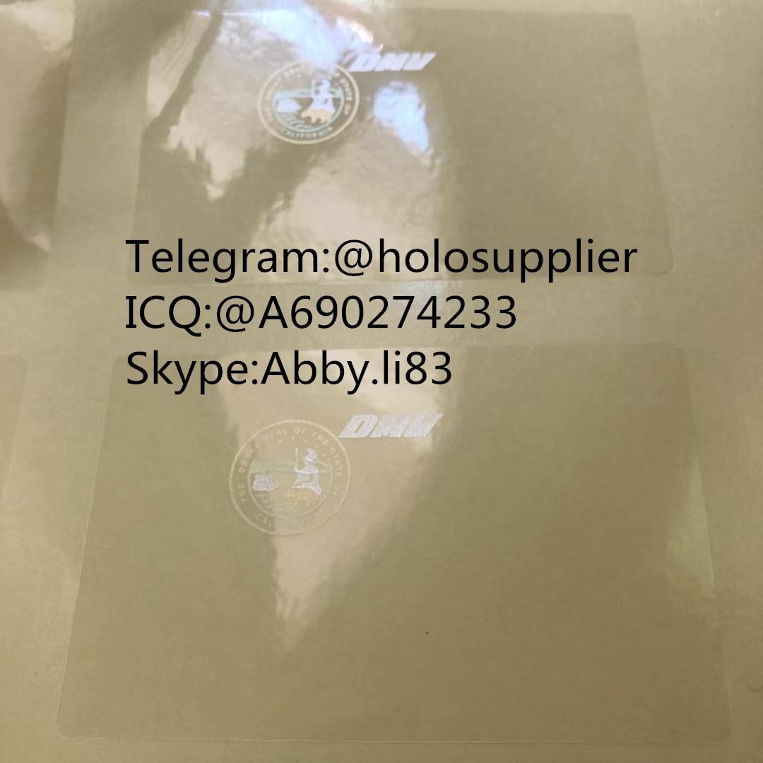 California CA ID DL hologram overlay California ID template