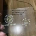 Rhode Island  ID RI hologram overlay