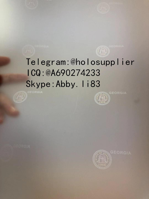New GA Georgia ID GA OVI hologram laminate sheet  1