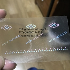 New Mexico ID hologram overlay sticker NM hologram