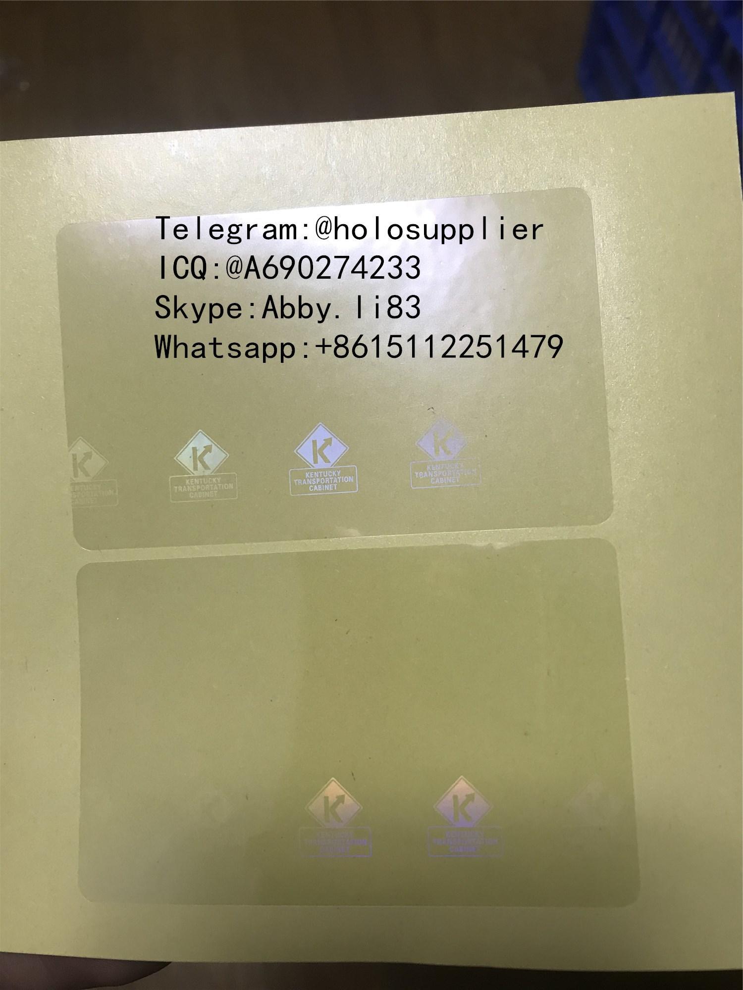 Kentucky KY ID DL hologram overlay sticker Kentucky ID template 2