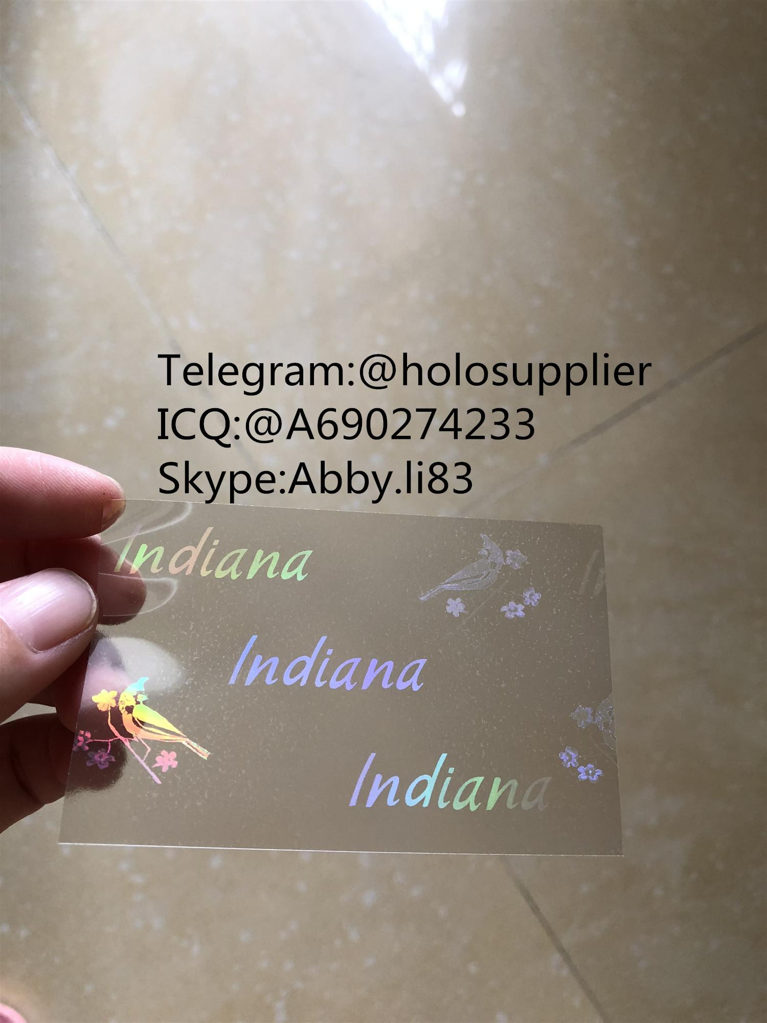 Indiana IN ID  hologram overlay sticker Indiana ID template 1