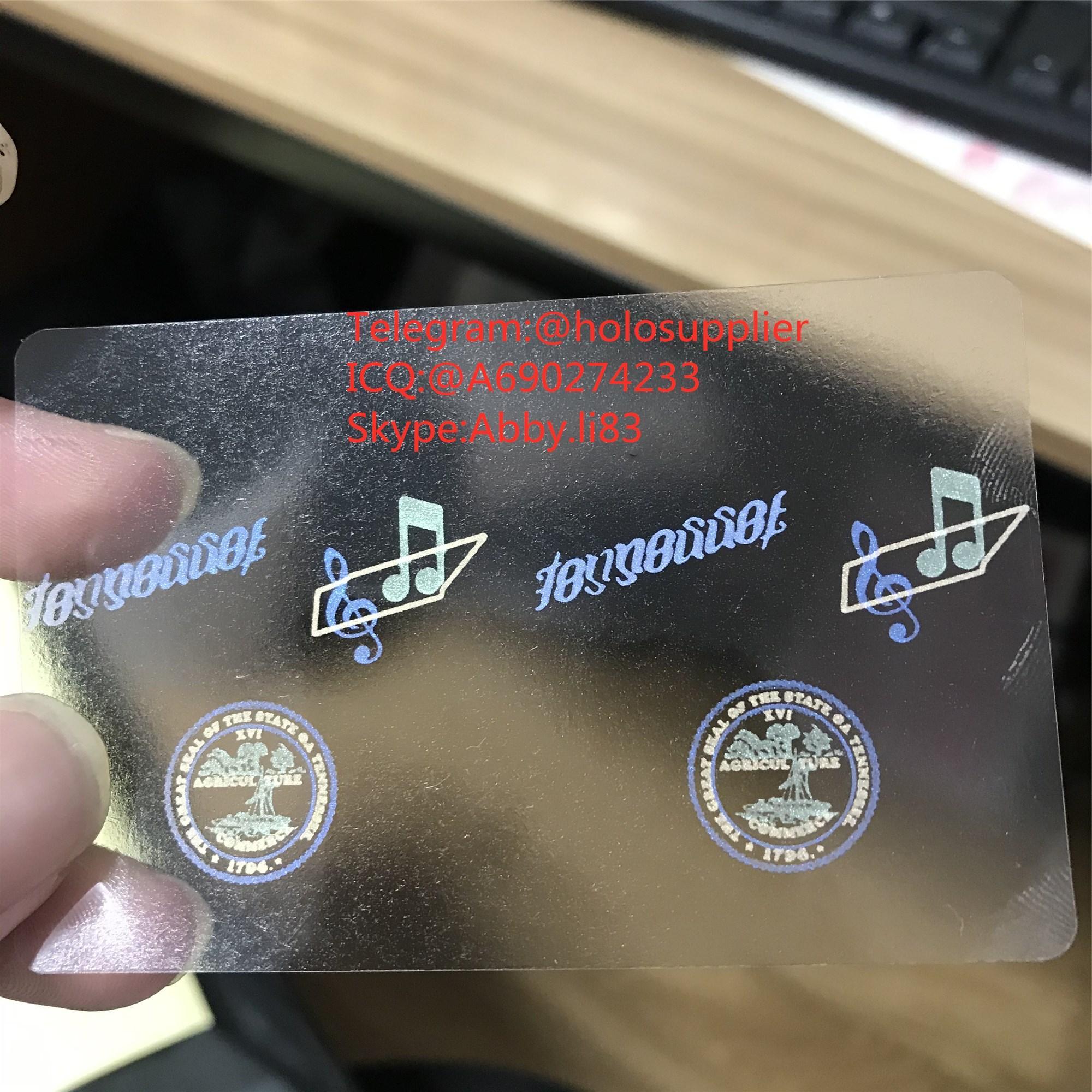 Tennessee id overlay TN ID state hologram 2
