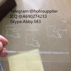 Louisiana ID hologram LA state overlay