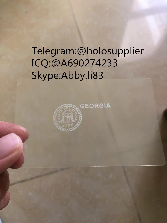 Georgia ID  hologram overlay sticker GA ID template