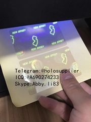 New Jersey id overlay NJ ID state hologram with UV