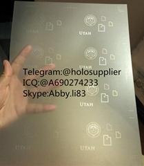 Utah ID laminate sheet overlay state ovi sheet