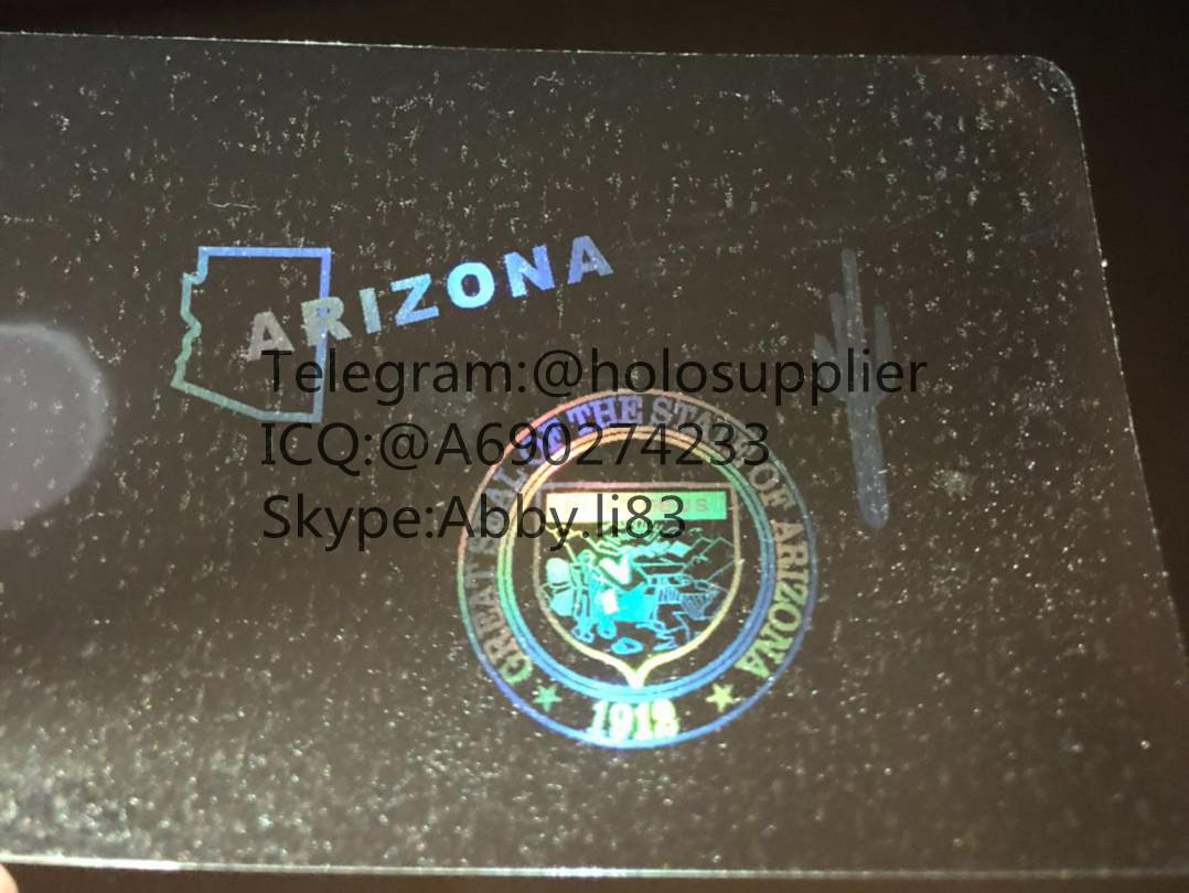 New Arizona id overlay AZ ID state hologram 2