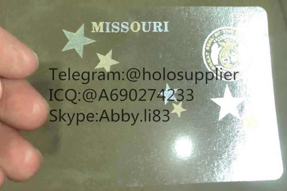 Missouri ID hologram sticker MO id overlay