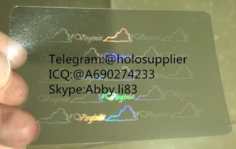 Virginia  ID  hologram overlay sticker Virginia VA ID template 2