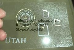New Utah OVI hologram sticker UT ID state overlay
