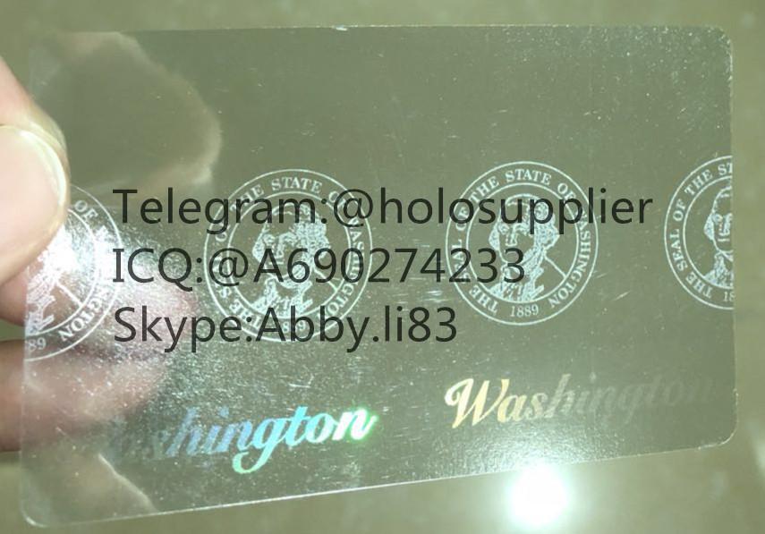 Washington  ID  hologram WA overlay sticker with UV