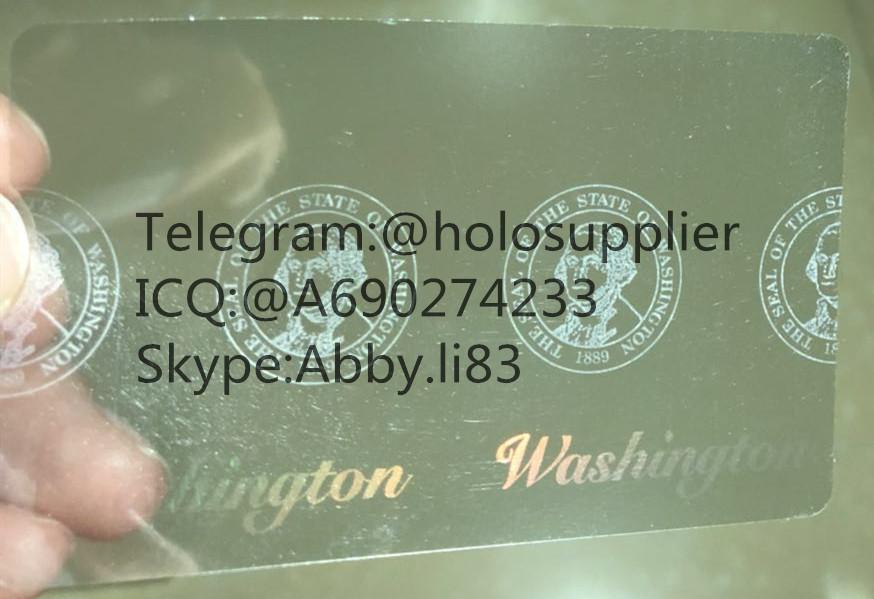Washington  ID  hologram WA overlay sticker with UV  2