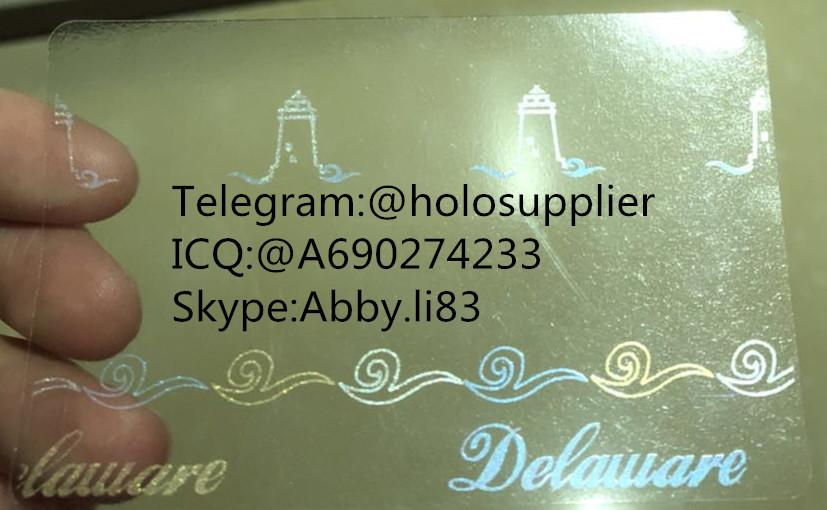 NEW Delaware id overlay DE ID state hologram 2